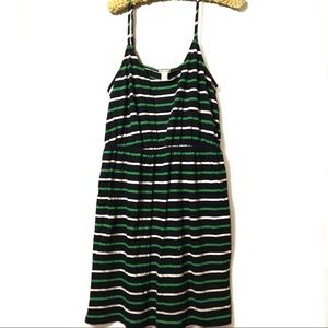 J Crew Factory navy green white sundress XL NWT